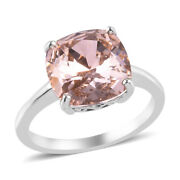 925 Sterling Silver Made With Rose Crystal Solitaire Ring Gift Size 10