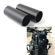 Black Front Fork Boot Tube Dust Cover Protector For Triumph Bobber T100 T120