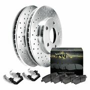 For 2000-2011 Cadillac Deville Dts Hart Brakes Rear Silver Zinc Cross Drilled