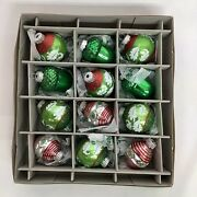 Nwt Christopher Radko 2013 Acorns And Rounds 2 Glass Ornaments Set Of 12