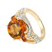 Hsn Victoria Wieck Citrine And White Topaz Baguette Ring Size 6 398
