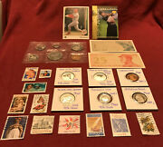 Junk Drawer Lot Silver Proof Quarters 1971 Canada Set Stamps Cards Currency