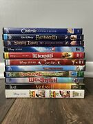 11 All Disney Dvds Lilo And Stitch 1 2 Toy Story Planes Cars Cinderella Dvd Lot