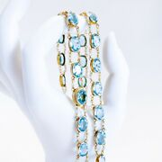 Antique Andbull Art Nouveau 14k Gold Pearl And Aquamarine Crystal Paste Riviandegravere Necklace