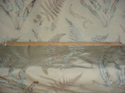 15-1/4y Brunschwig Fils Bf10007 Bakers Ferns Embroidered Silk Upholstery Fabric