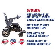 Wolf Electric Wheelchair Folding Lightweight Power Medical Mobility Aid Motorize