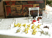 Vintage Marx Roy Rogers Rodeo Ranch Playset 3985 - No House, But Lots Of Pieces