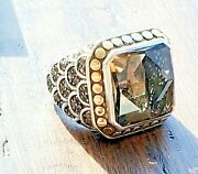 John Hardy Smoky Brown Quartz Naga Scales Ring 18kt And .925 In Jh Pouch