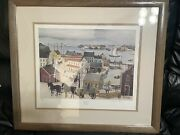 """Will Moses Gingerbread Cove 26"""" X 23"""" Painting Signed Framed Numbered Lithograph"""