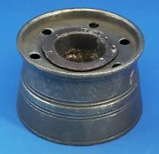 Pewter Vintage Victorian Antique Round Drum Capstan / Ships Inkwell D