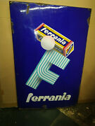 Vintage Old Ferrania Roll Film 1910 Original Porcelain Sign Made In Italy Rare