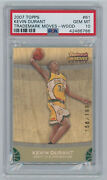 2007 Topps 61 Kevin Durant Trademark Moves- Wood Rookie /199 Psa 10