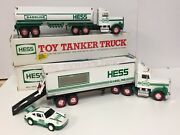 Vintage 1990and039s Hess Toy Truck Lot 1990 Tanker 1992 18 Wheeler And Racer In Box