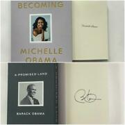 Barack And Michelle Obama Set Deluxe Signed Autograph Becoming Promised Land Books