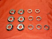 Jaguar Saloons 1960and039s Set Of 7 Chrome Inner And 6 Outer Escutcheons Lot