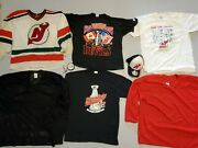 Vintage New Jersey Devils Maska Ccm Jersey And Shirts And Nj Warm Up Sweaters Used
