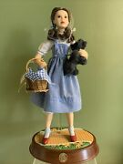 Franklin Mint Heirloom Porcelain Wizard Of Oz Dorothy With Music Stand And Toto