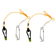 2pcs Outrigger Power Grip Snap Release Clip For Boat Sea Fishing Black