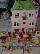 Fisher Price Loving Family Lot Grand Mansion Doll House People Furniture Pets