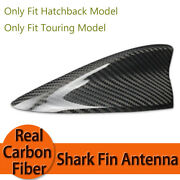 1x Real Carbon Fiber Roof Shark Fin Antenna Cover For 16-18 Mazda3 Hatch Touring