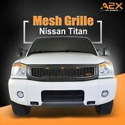 Front Hood Upper Titan Grille Replacement Grill Led Fits 04-07 Nissan Titan