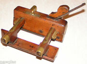 English Wood And Brass Plane Ca. Early 1800's Harley Warranted Cast St Sheffield