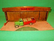 Triang Minic Pre-war Garage Service Station Rare 1st Series 1936 Wooden Tri-ang