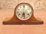 Antique Wood Case Cws Mantle Clock With Key
