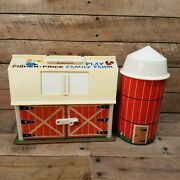 Vintage 1967 Fisher Price 915 Little People Play Family Farm Barn Silo Animals