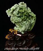 17 Chinese Natural Xiu Jade Carving Feng Shui Cabbage Wealth Luck Ornaments