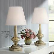Antique Touch Table Lamps Set Of 2 Antique Brass White For Living Room Bedroom