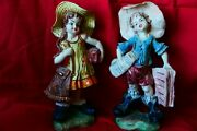 Vintage Two Figurines Made In Italy.perfect Condition.