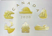 2020 Real Shapes 50 3 Oz Pure Silver Proof 6-coin Set Collector Wood Box/case