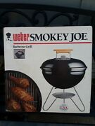 Vintage 1989 Weber Smokey Joe Charcoal Grill 10001 Black - New With Booklet