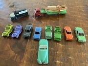 Lot Of 13 Vintage Old Tootsie Toy Metal Toy Cars Rare Mustang Jaguar Sail Truck