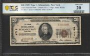 1929 20 Type 1 Fr 1802-1 Schenectady Pcgs Vf20 Union National Bank Newyork Note