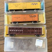 Atlas Model Trains N Scale Lot Of 3 Freight Train Cars Wilson, Wabash, And Dandrgw