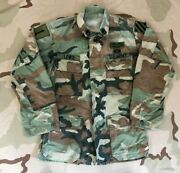 Us Army Camo Bdu Shirt 1st And 3rd Infantry Division Cib And Parachutist Badge
