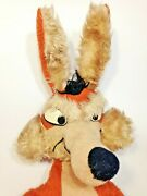 Wile E Coyote Plush Rare Jumbo 32 Warner Bros Looney Tunes Vintage 1970and039s Toy
