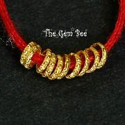 18k Solid Yellow Gold 3.2mm Textured Loop Ring Spacer Finding Beads 10