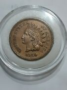 1859 Indian Head Cent Penny Tougher Date 1st Year High Grade