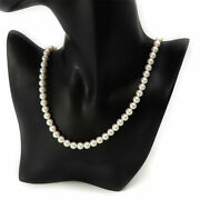 Mikimoto Pearl Necklace K18 6.9mm 7.3mm Quality Maru High Secondhand
