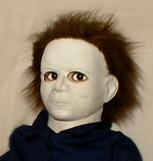 Haunted Halloween Mask Horror Doll Eyes Follow You Creepy Prop House Mansion