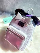 Loungefly Nwt 🦄disney Minnie Mouse Main Attraction Space Mountain Backpack🦄