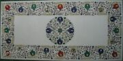 24 X 48 Inch Marble Coffee Table Top Peitra Dura Art Patio Table For Lawn Decor