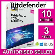 Bitdefender Total Security 10 Appareil 3 Ans Pc Mac Ios Android Code...