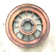 Used Allis Chalmers Parts Wc Tractor Round Spoke 8 X 24 Rear Rim Rusty With Hole