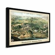 1904 Yellowstone National Park Map - Framed Vintage Yellowstone Wall Art Poster