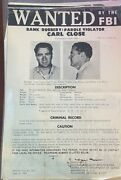 Large 1963 Fbi Wanted Poster For Carl Close For Bank Robbery - Flyer 322