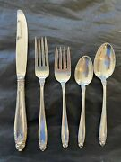 Prelude By International Sterling Flatware 4 Settings 5 Pieces Place Size
